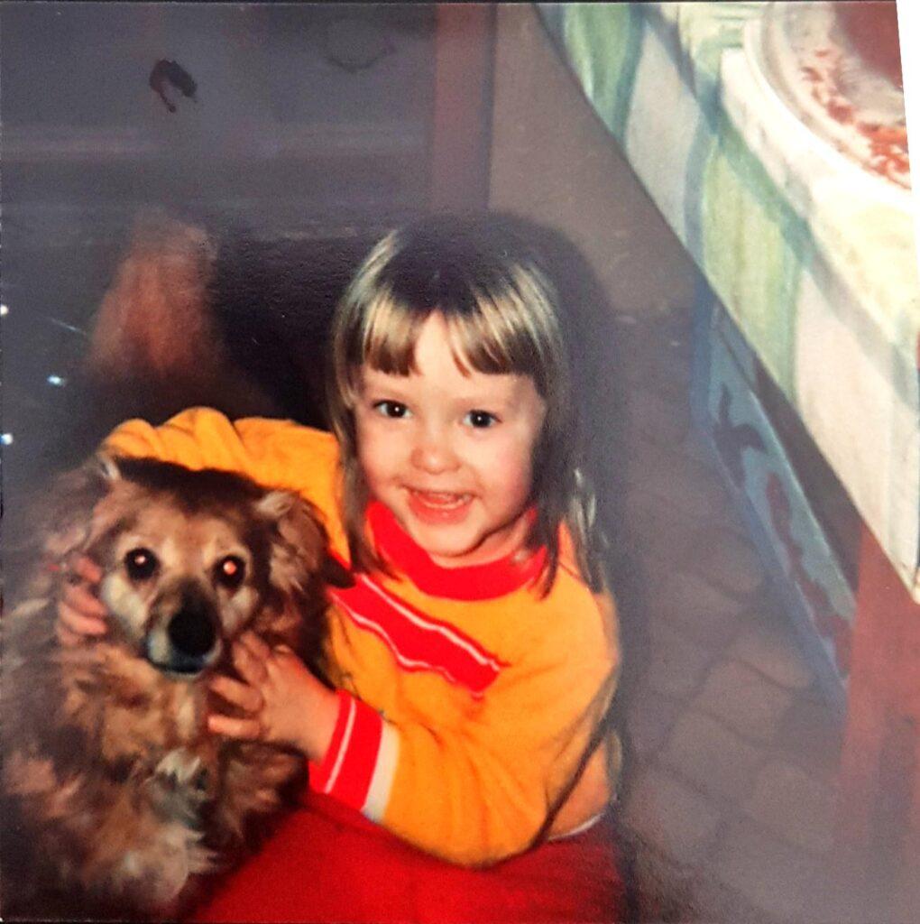 Mein erster Hund Topsy, ca. 1991